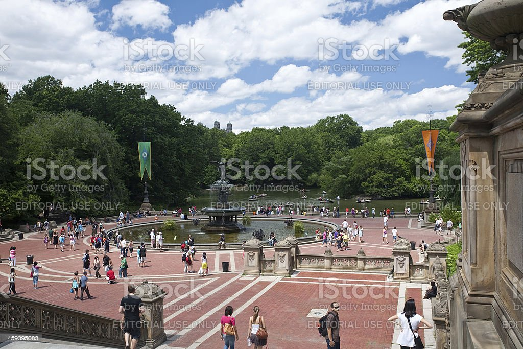 Central Park Fountain royalty-free stock photo