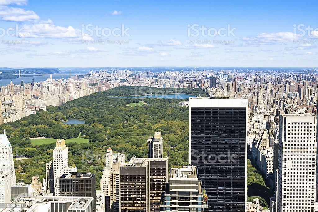 NYC Central Park from above royalty-free stock photo