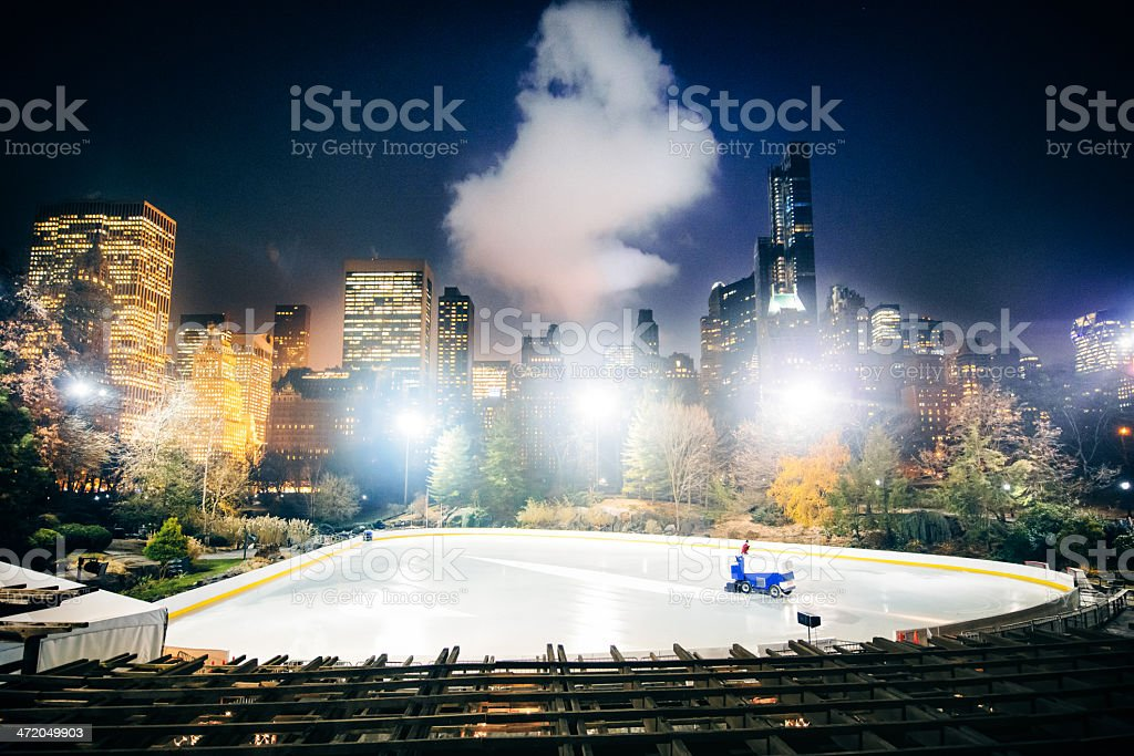 Central Park Ice Rink New York royalty-free stock photo