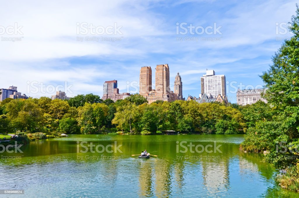 Central Park in a sunny day in New York City. stock photo