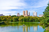 Central Park in a sunny day in New York City.