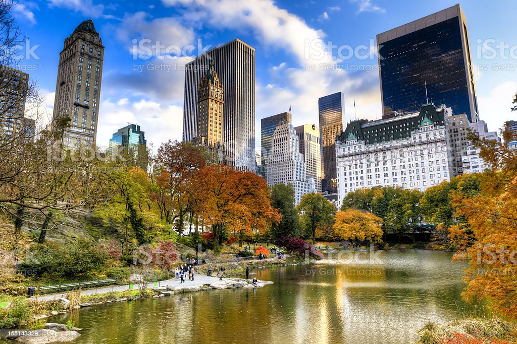 Central Park in New York during autumn season royalty-free stock photo