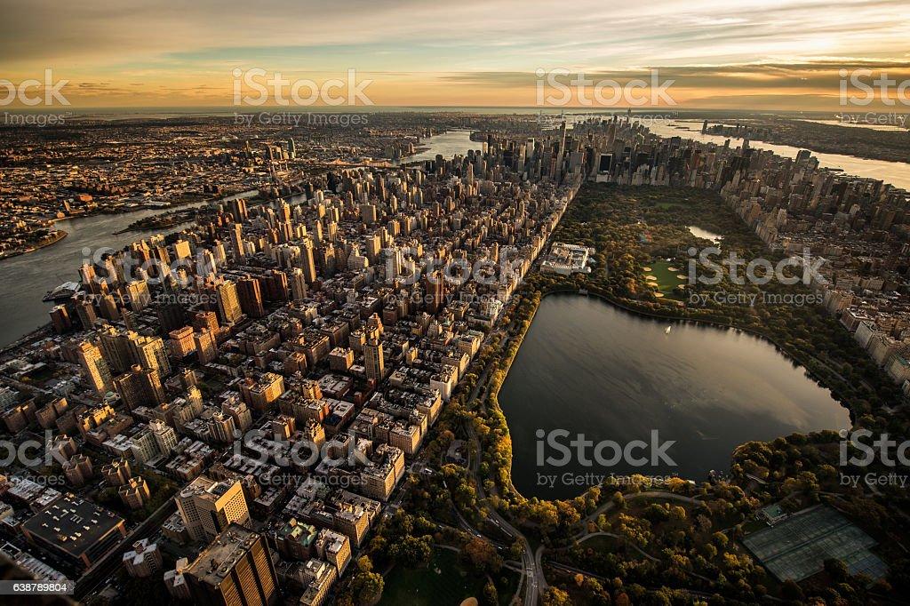 Central Park in New York stock photo