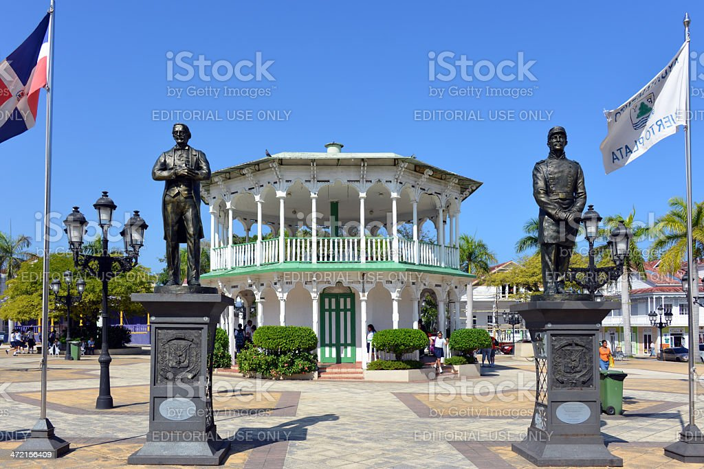 Central Park in Puerto Plata stock photo