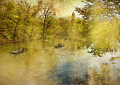Central Park in Spring Painting