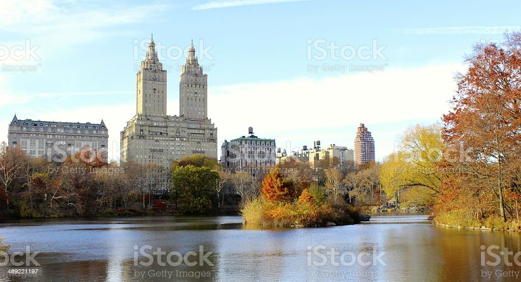 Central Park in the Fall royalty-free stock photo