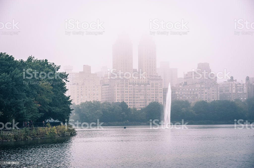 Central Park in the fog, New York royalty-free stock photo