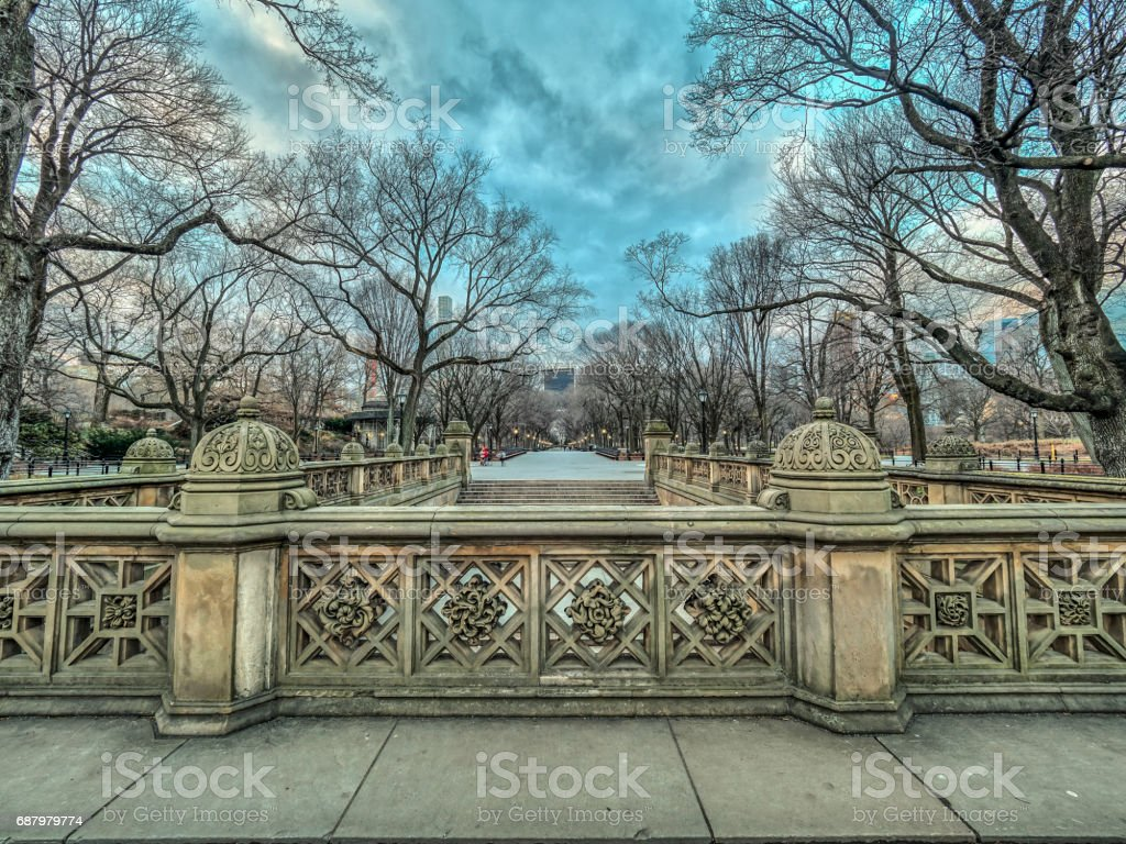Central Park Mall stock photo