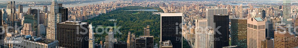 Central Park Manhattan skyscrapers royalty-free stock photo