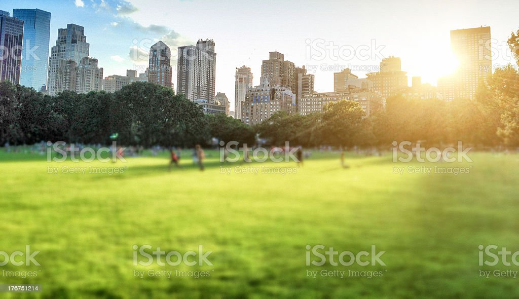 central park on nyc stock photo