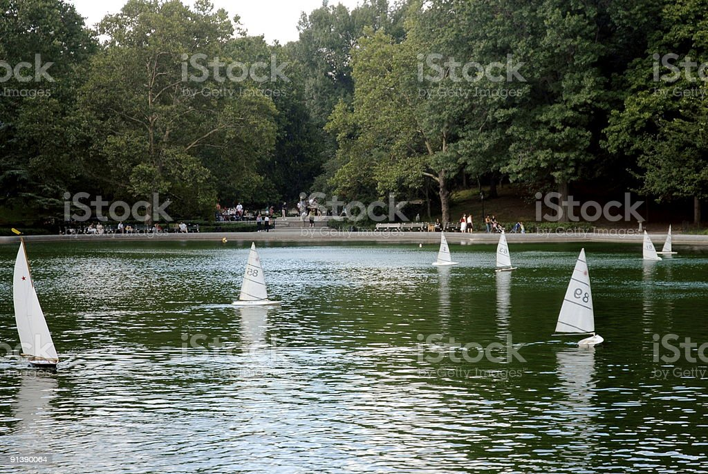 Central Park pond in New York City, USA royalty-free stock photo