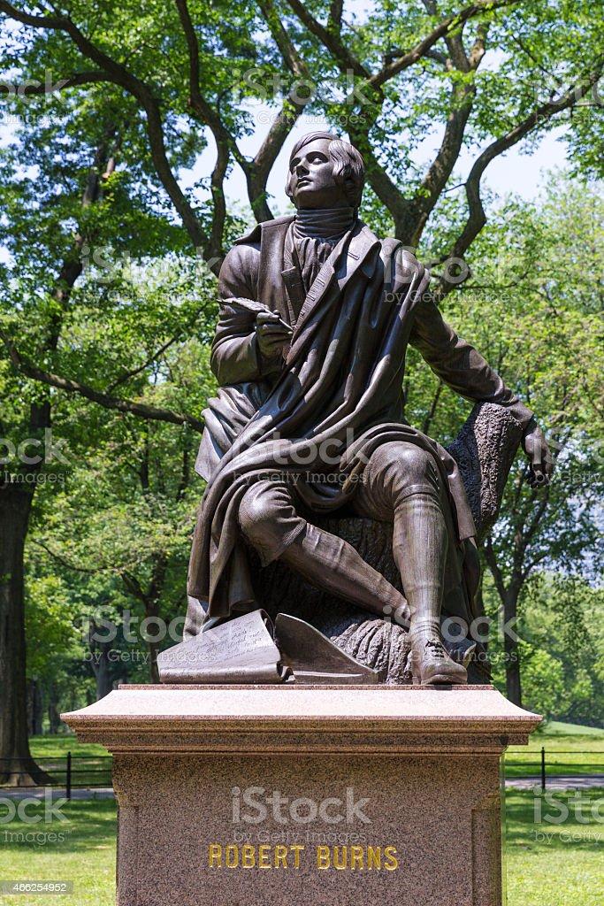 Central Park Robert Burns Manhattan New York stock photo