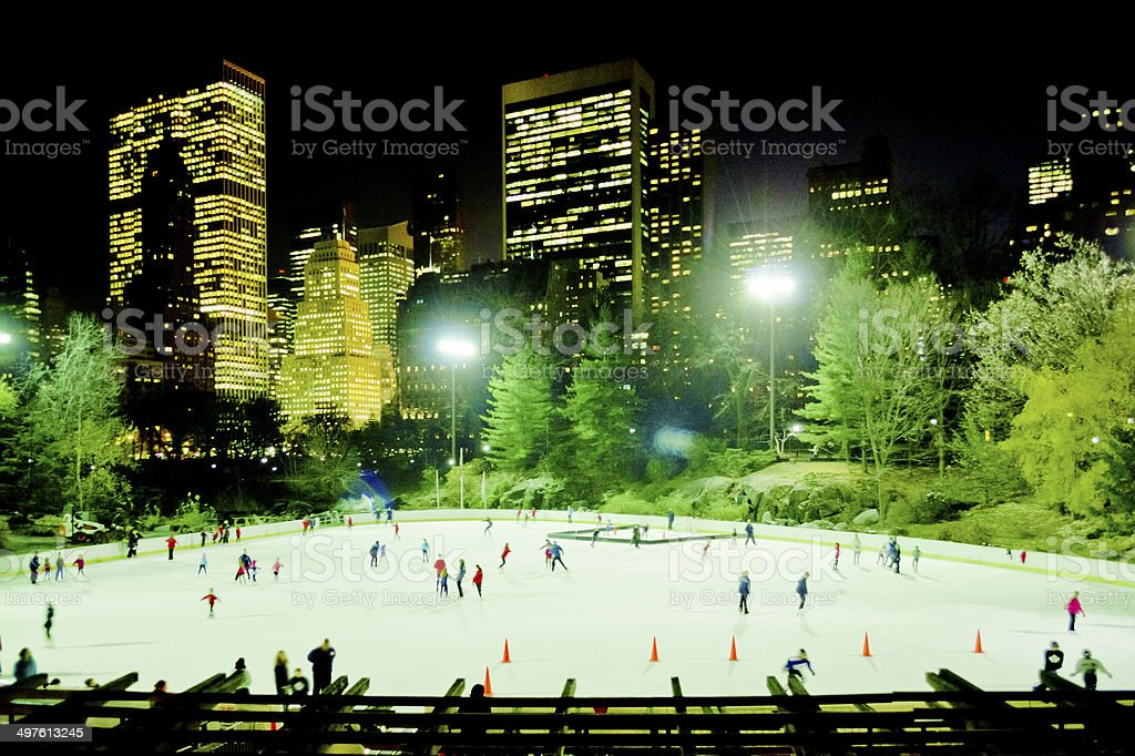 Central Park Skating Rink, New York stock photo