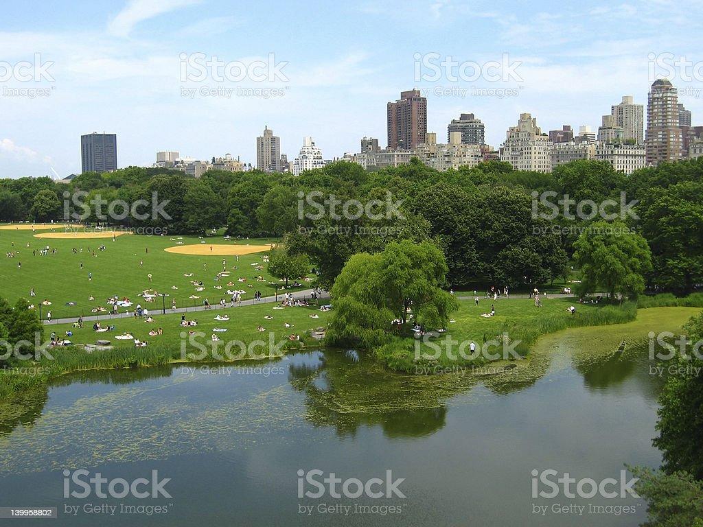Central Park skyline stock photo