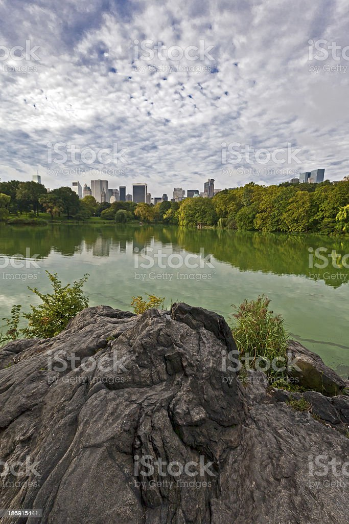 Central Park the lake royalty-free stock photo