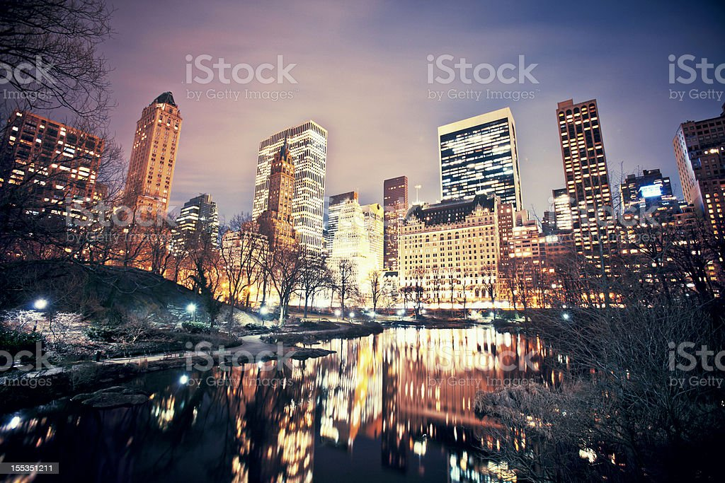 Central Park view. royalty-free stock photo