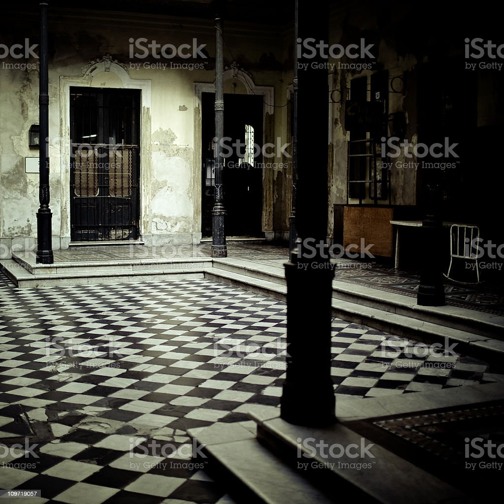central patio royalty-free stock photo
