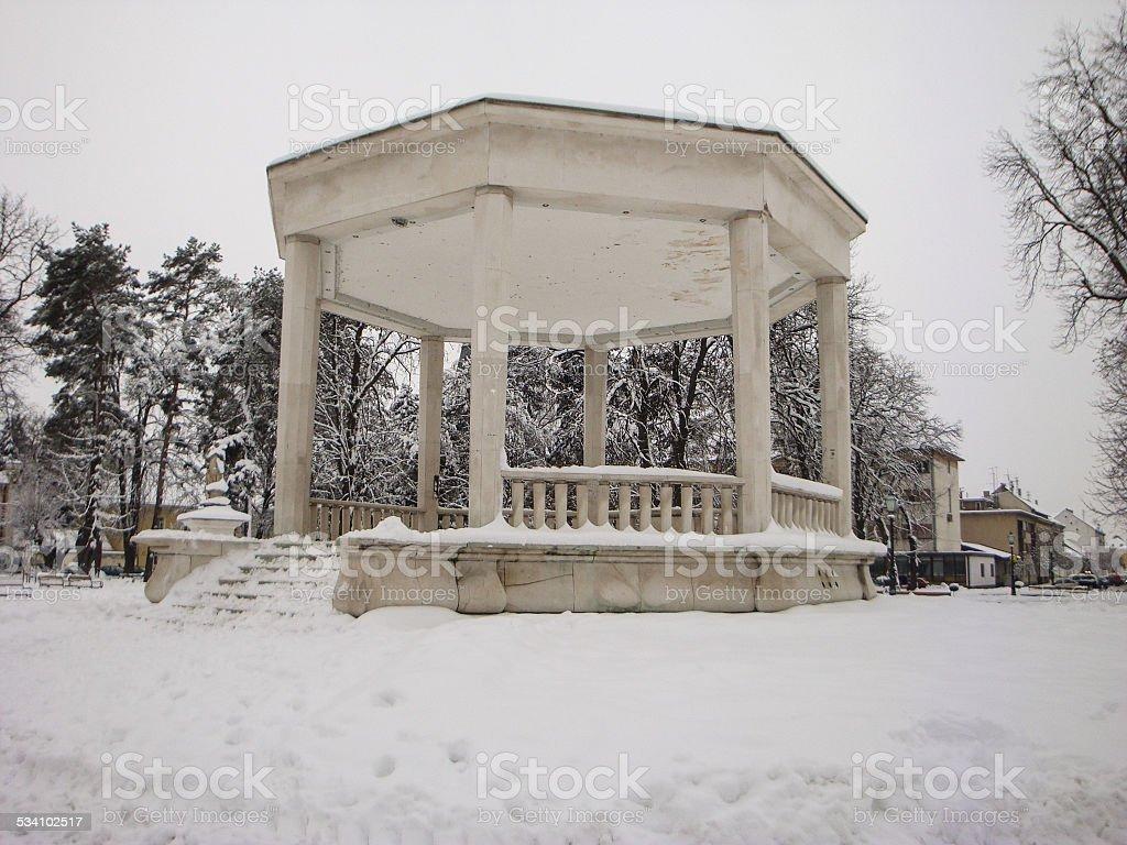 Central Pavilion in Bjelovar, Croatia stock photo