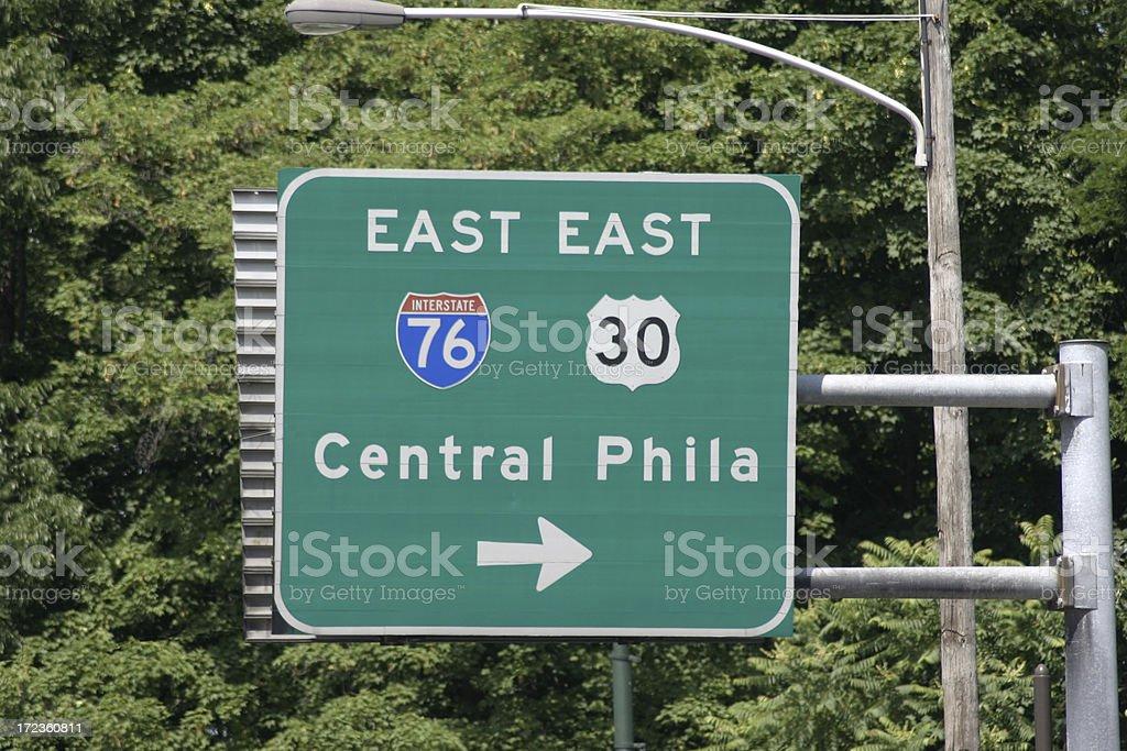 Central Philadelphia stock photo
