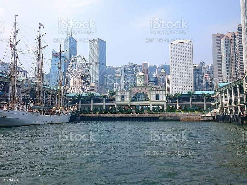 Central Pier in Hong Kong stock photo