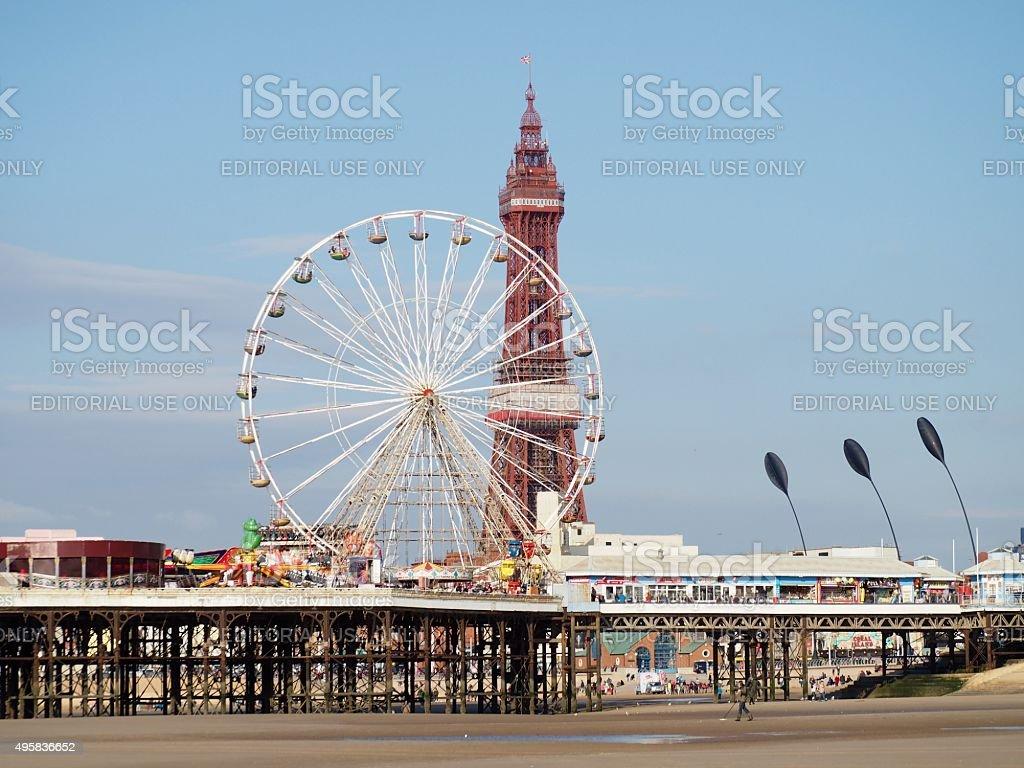 Central pier,Blackpool,UK stock photo