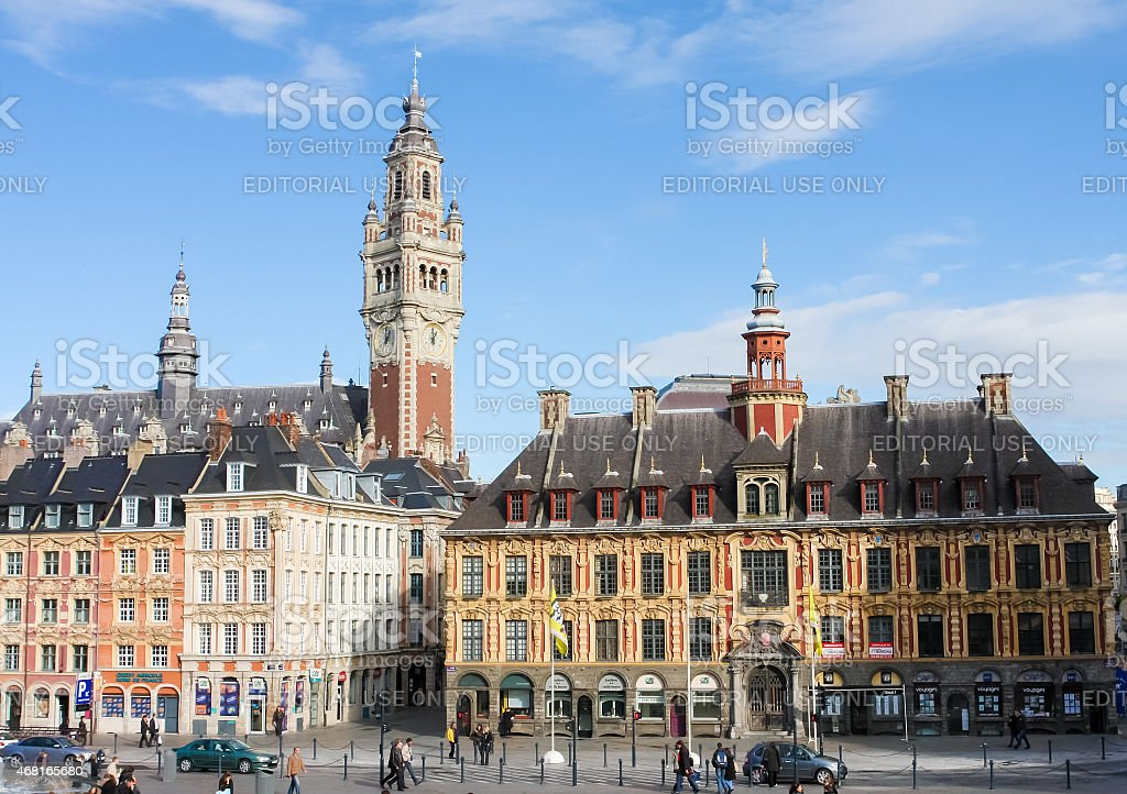 Central Place General de Gaulle in Lille, France. stock photo