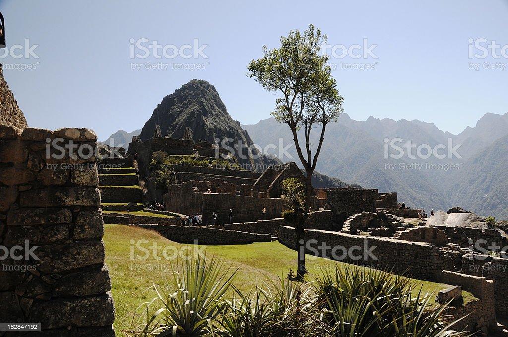 Central Plain of Machu Picchu stock photo