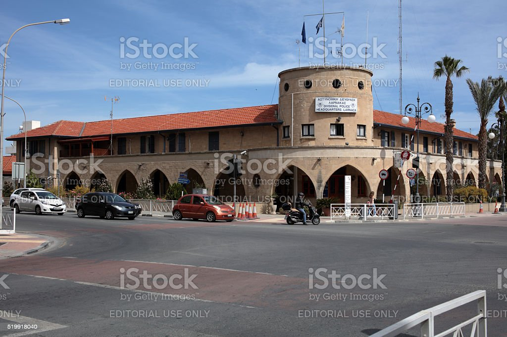 Central police station of Larnaca, Cyprus stock photo