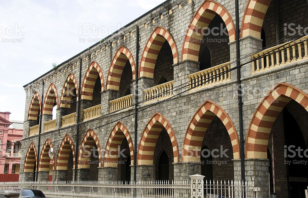 central police station port of spain trinidad stock photo