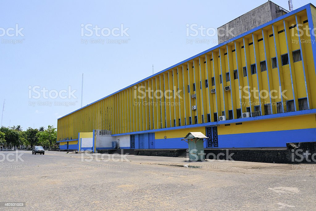 Central Post Office, 'La Poste' - Douala, Cameroon stock photo