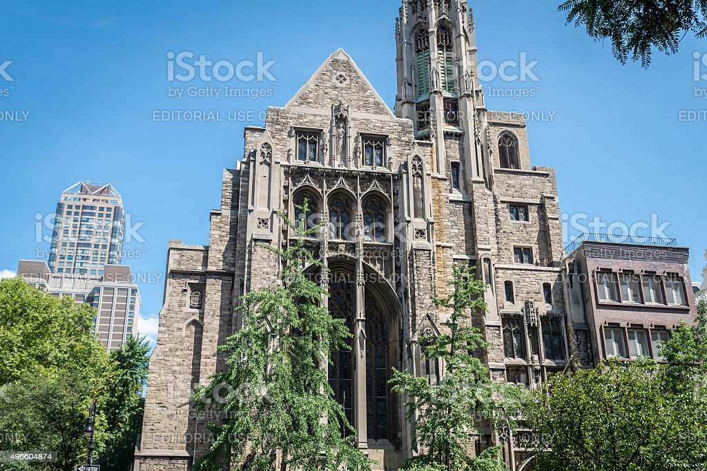 Central Presbyterian Church in New York stock photo