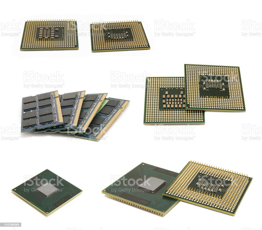 central processing unit isolated royalty-free stock photo