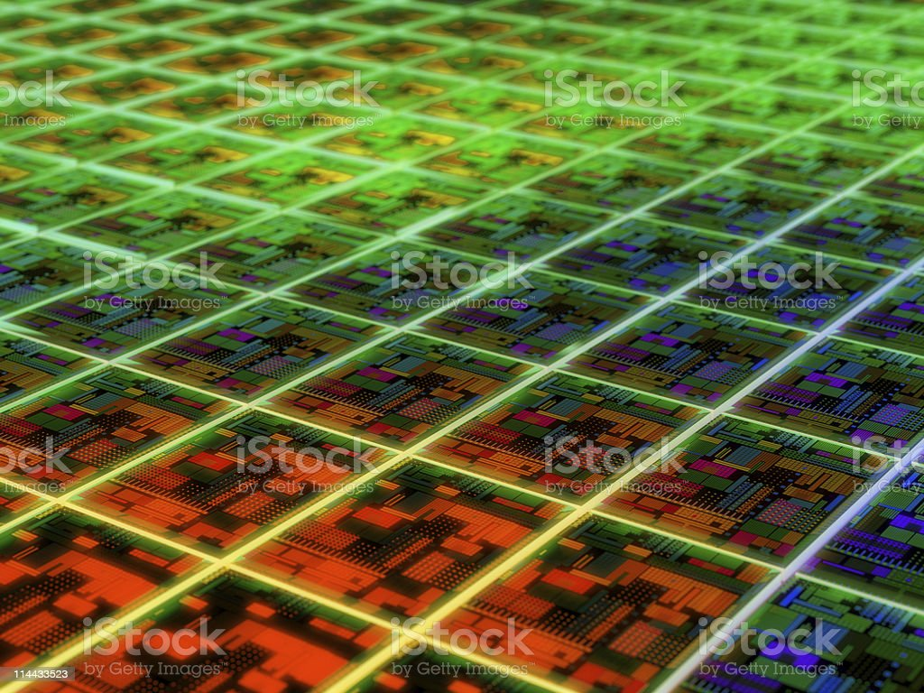 Central processing unit stock photo