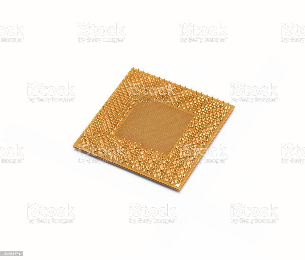Central processor. stock photo