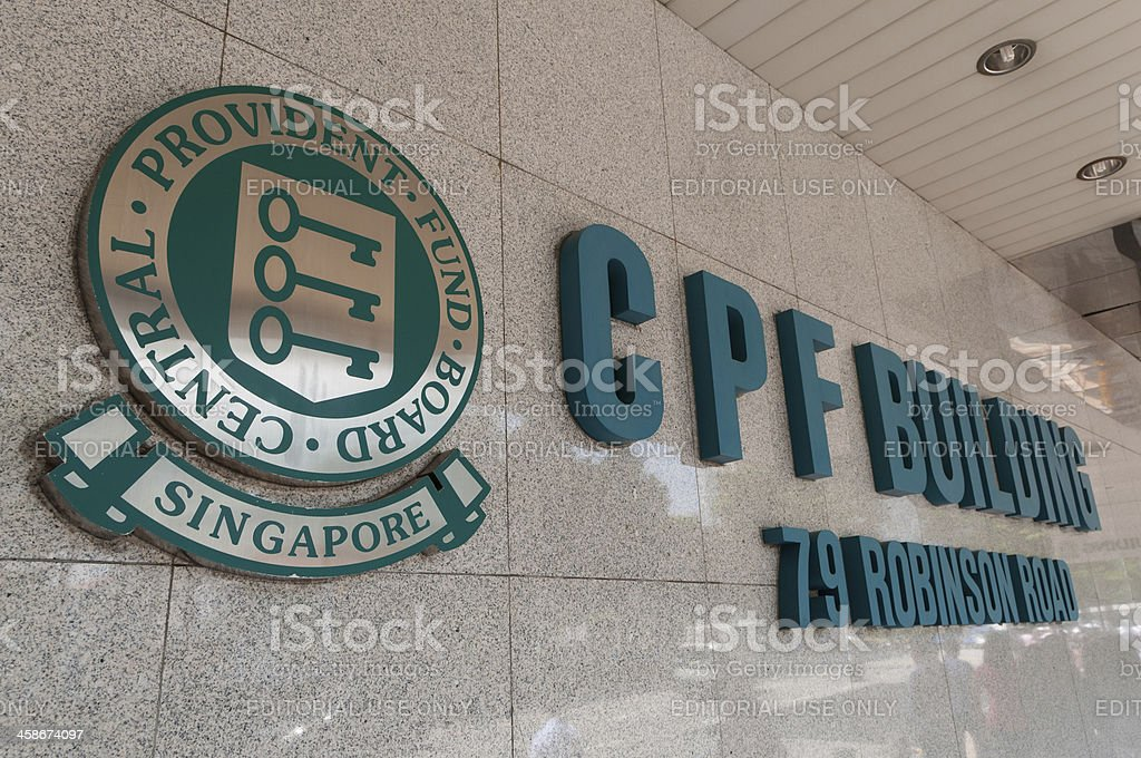 Central Provident Fund stock photo