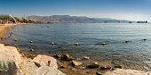 Central public beach in Eilat, Israel