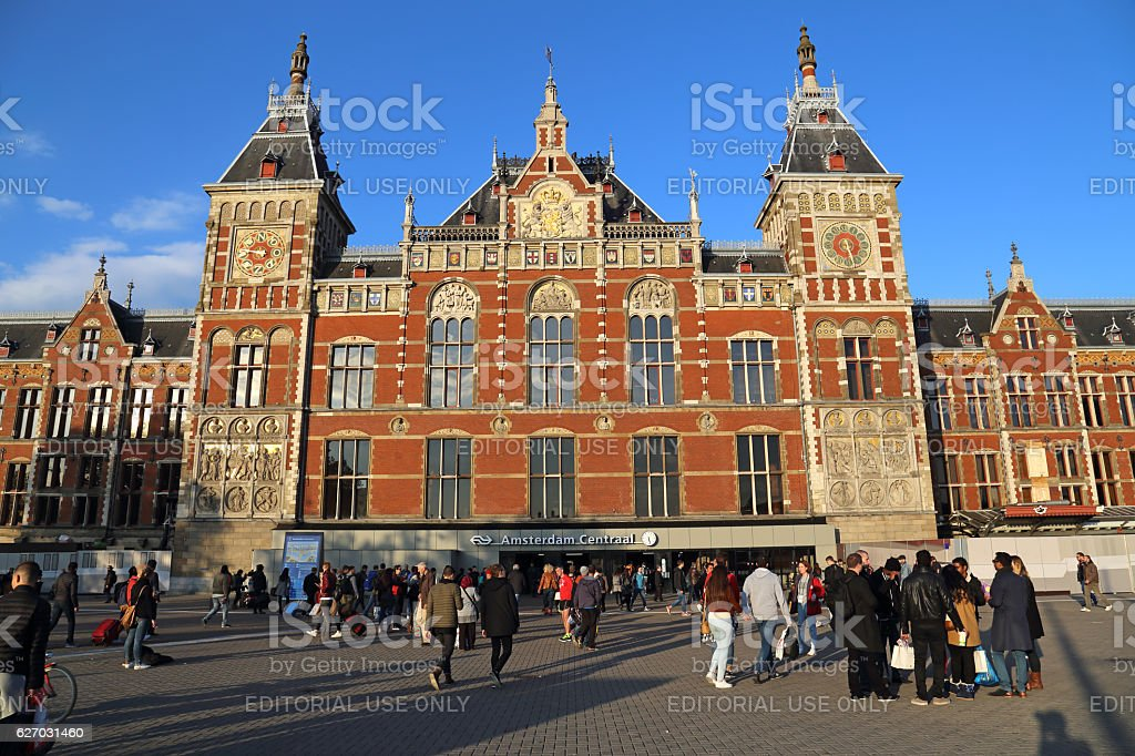 Central Railway Station Amsterdam, Holland stock photo