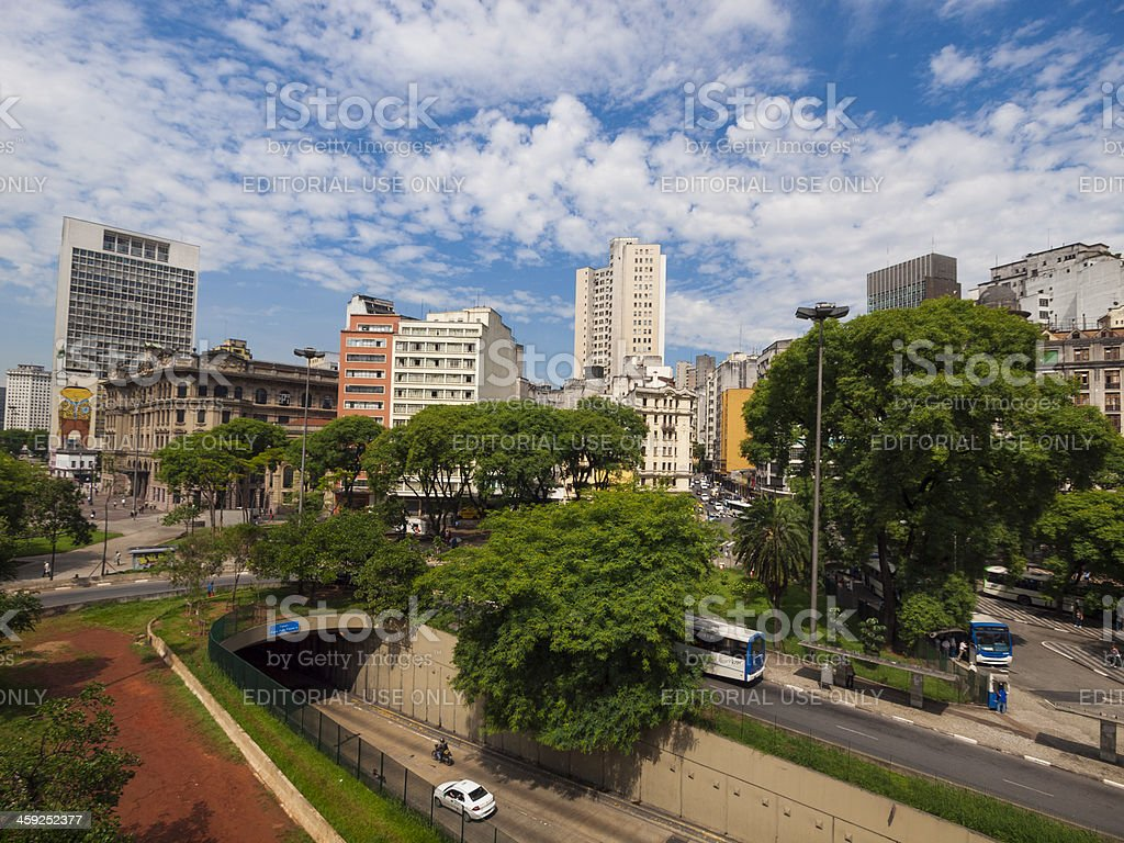 Central Sao Paulo, Brazil stock photo