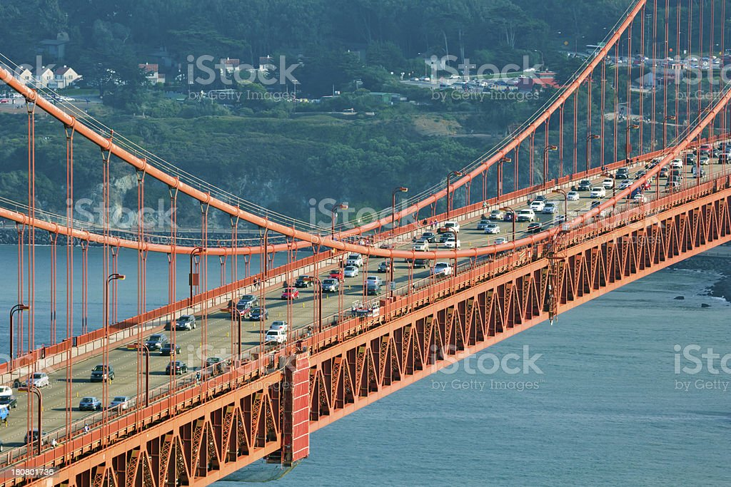 Central section of Golden Gate Bridge, San Francisco royalty-free stock photo