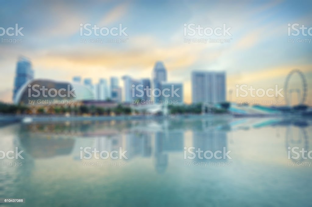central Singapore blurred background stock photo