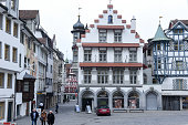 Central square at the old town of St. Gallen