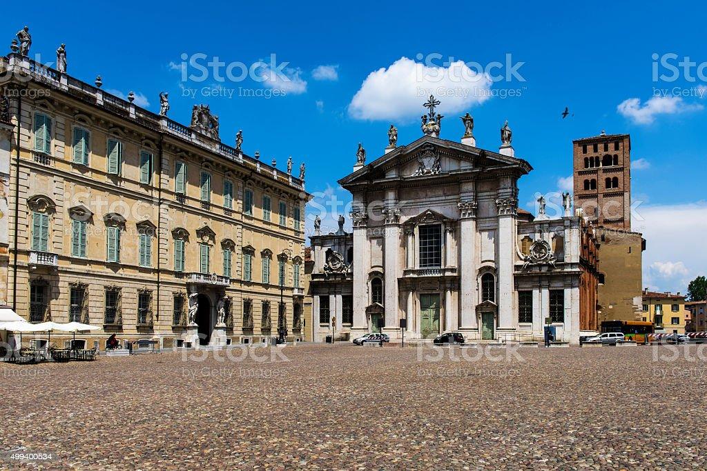 Central Square in Mantua stock photo