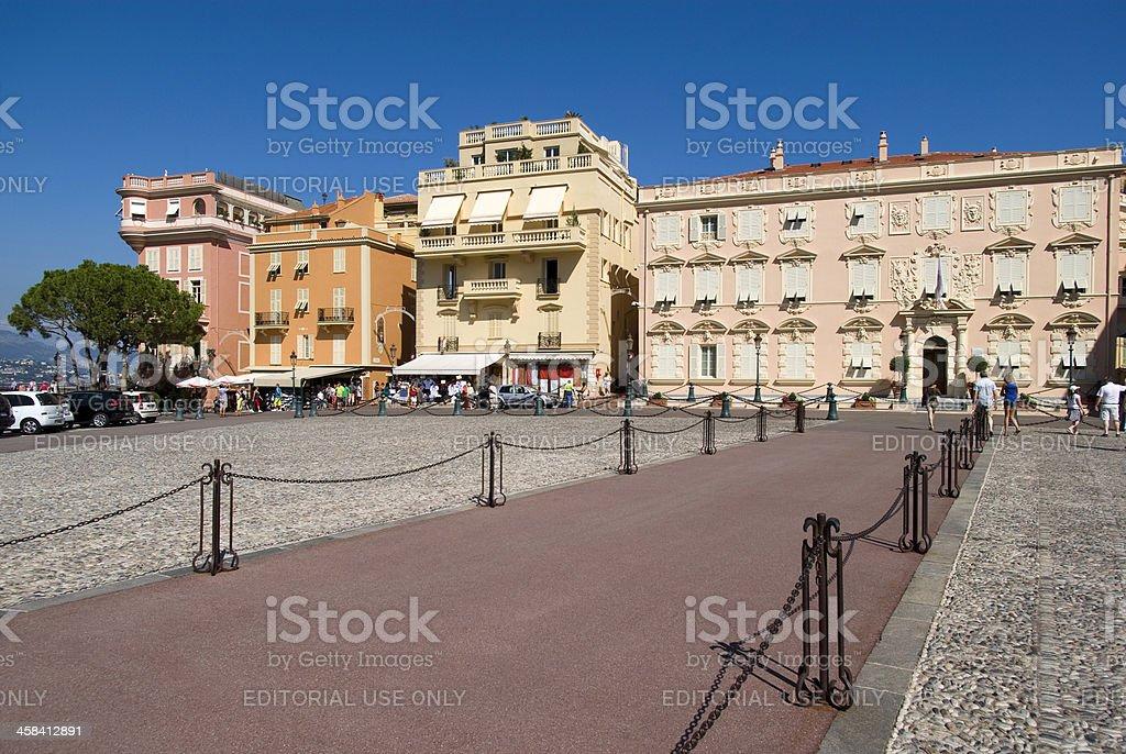 Central square in Monaco-Ville royalty-free stock photo