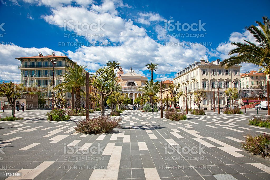 Central Square in Nice, France. Europa. stock photo