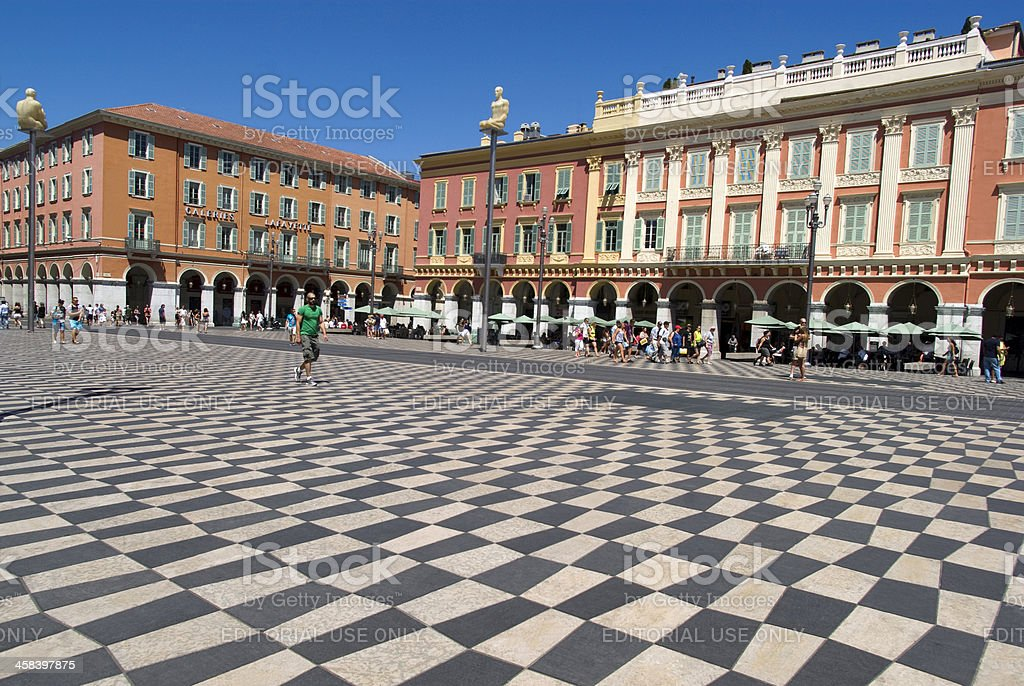 Central Square in Nice, France royalty-free stock photo