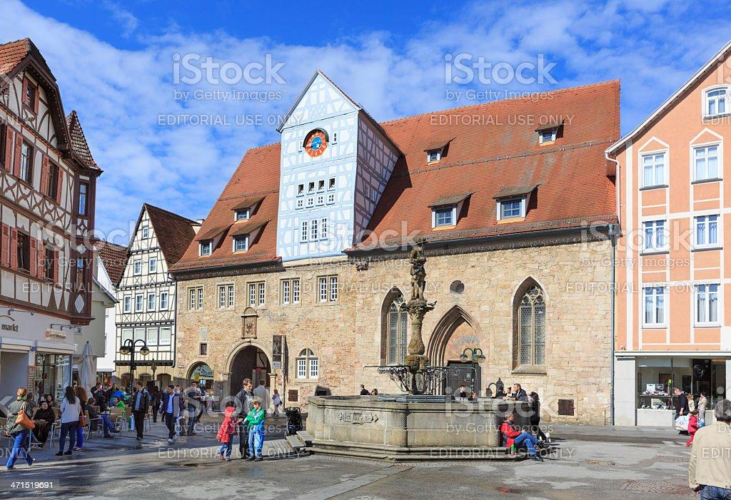 Central Square of Reutlingen stock photo