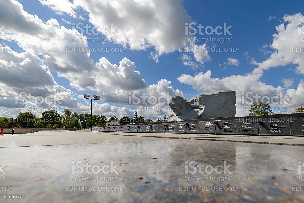 Central square of the memorial complex Brest Fortress. stock photo