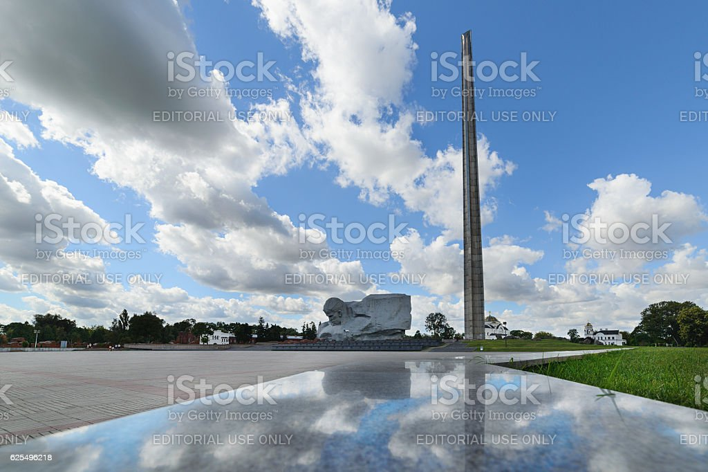 Central square of the memorial complex Brest Fortress. stock photo
