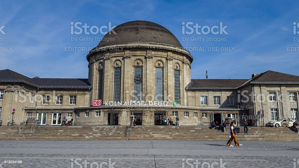 central station building Cologne Messe Deutz stock photo