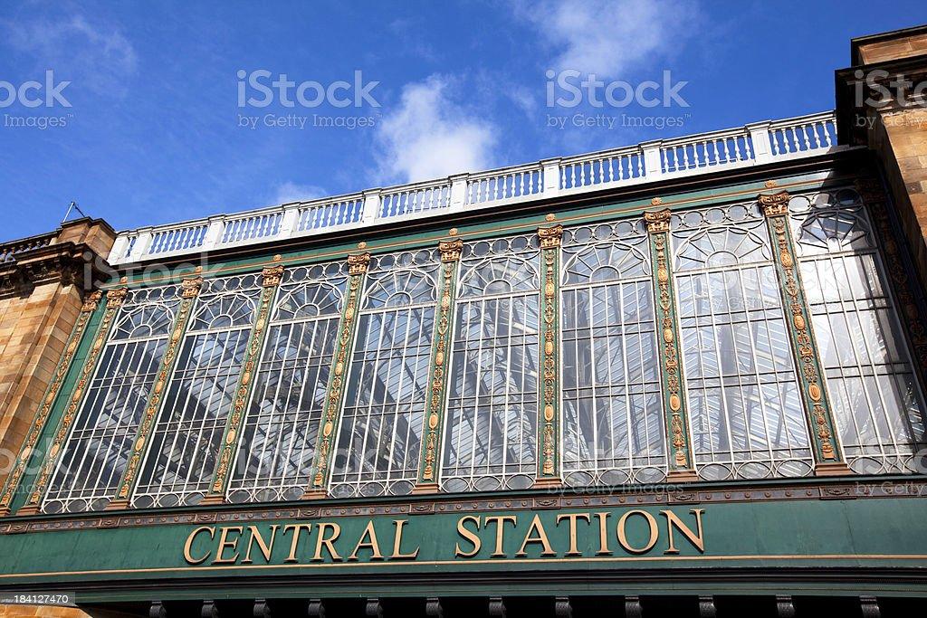 Central Station, Glasgow, Scotland. stock photo